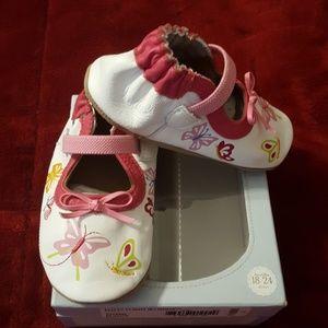 Robeez Shoes - NWT Robeez Flitty Flight MJ White Size 18-24 mths